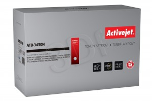 Toner ActiveJet ATB-3430N czarny do drukarki Brother - zamiennik TN3430