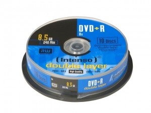 Intenso DVD+R 8,5GB Double Layer 8x Cake Box 10